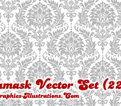 Damask Vector Illustrations