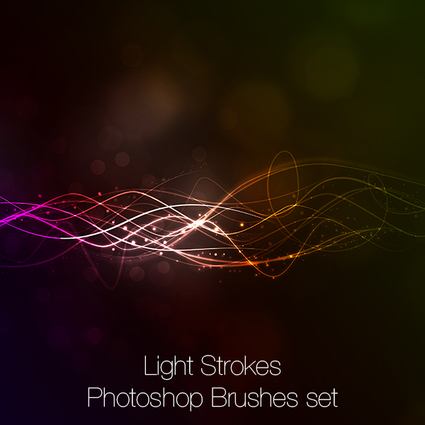 Free Photoshop brushes - Light Strokes (Lightworks)