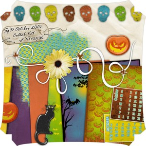 Free Scrapbook Quick Page by Vivayne