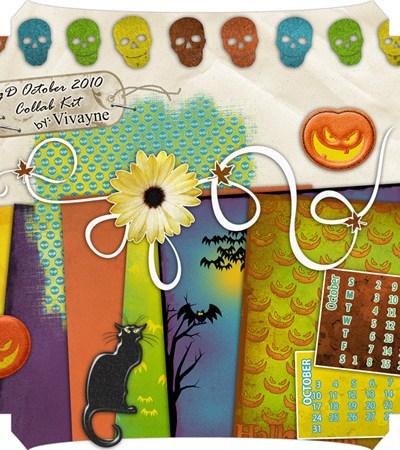 Vivayne Free Digital Scrapbook QP October