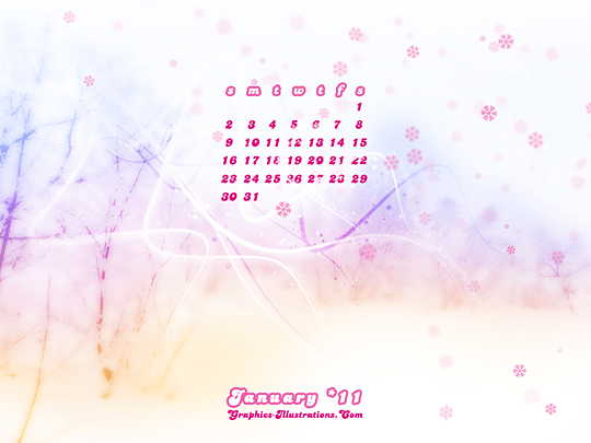 Free Download: January 2011 Calendar Desktop Wallpaper