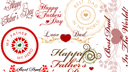 Father's Day (32+32 brushes, two sizes) Photoshop brushes - free for all GBG members!
