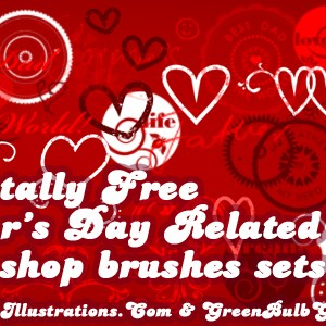 "10 Free Father's Day Photoshop Brushes Sets; [Set 10/10 ""Letter blocks""]"