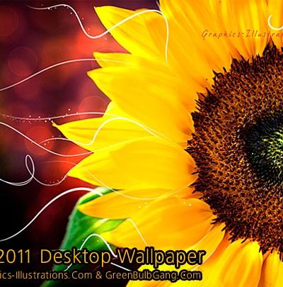 "Free Download: July 2011 Desktop Wallpaper ""Sunflower"""
