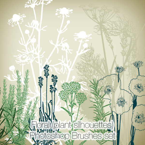 Floral (plant) brushes set (25) FREE Download!