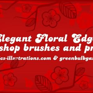 New Photoshop Brushes Set: Elegant Floral Edges