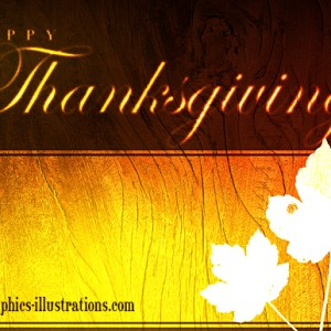Happy Thanksgiving with free graphic, card or background