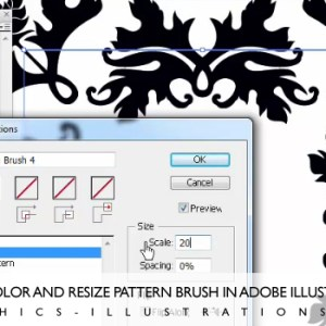 Download Damask Illustrator Brushes&Illustrator Christmas Card [Tutorial Inside Too]
