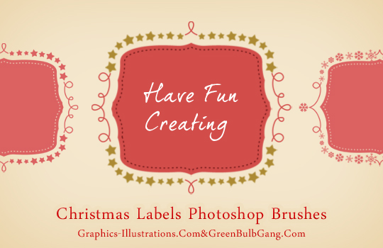 Christmas labels free photoshop brushes set do it yourself christmas labels free photoshop brushes set solutioingenieria