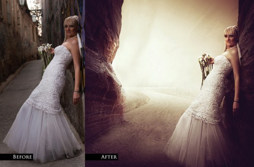From Wedding Photo To Fantasy Art