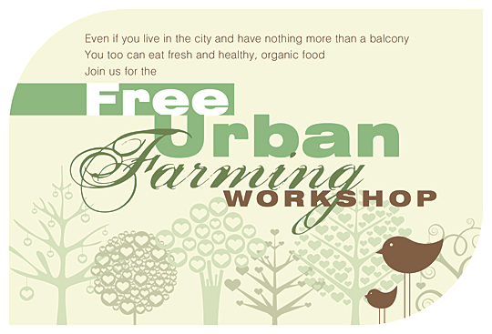 Grow Your Own Food – Workshop Flyer Design
