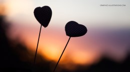 Graphics Illustrations Wallpaper - Two Hearts In The Sunset 1600 × 900