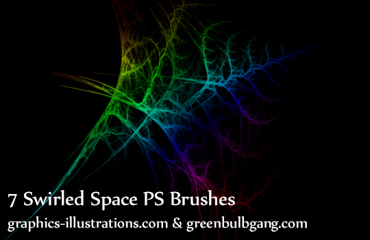 Photoshop brushes, Swirled Space