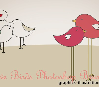 Love Birds Brushes set, 9 brushes in two variations - all in three size - available for Gold and Platinum GBG members