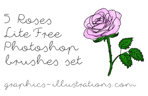 Roses Lite Free Photoshop brushes set