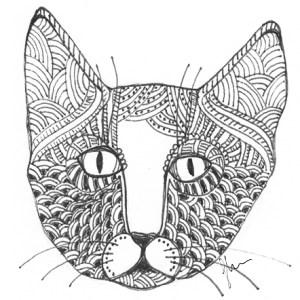 CatArt by bsilvia – Zentangle Cat. No. 2