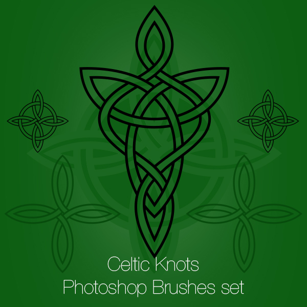 Celtic Knots Photoshop Brushes and PNGs