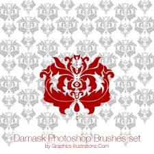 Damask Photoshop Brushes