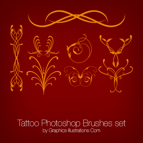 Tattoo Photoshop Brushes and PNGs pack