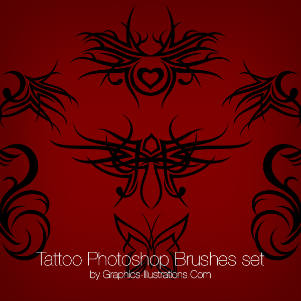Tattoo Photoshop Brushes and PNGs