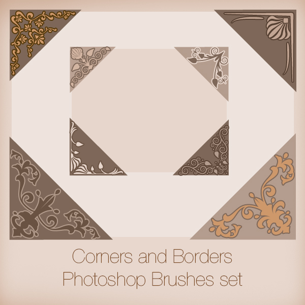 Corners and Borders Photoshop Brushes