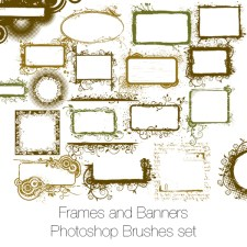 Frames and Banners Photoshop Brushes and PNGs