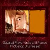 Squared Photo Masks and Frames Photoshop Brushes