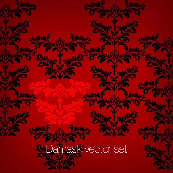 Damask Vector set