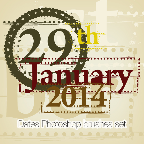 Dates Photoshop Brushes