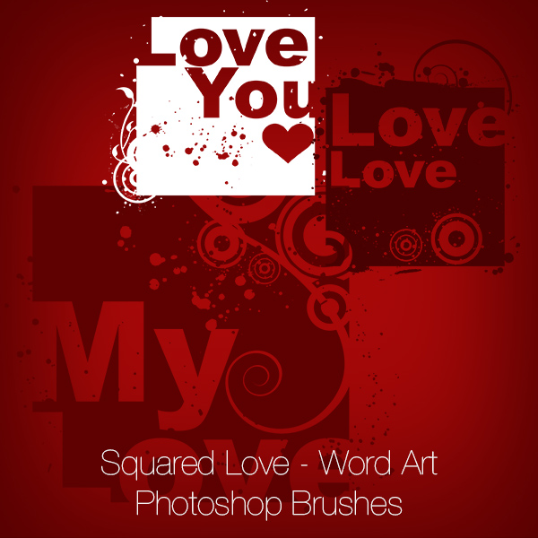 Love Text Brushes - Free Photoshop Brushes at Brusheezy!