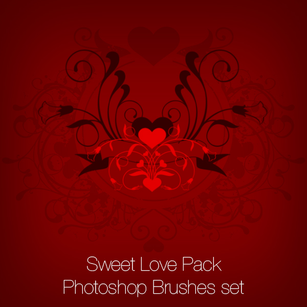 Sweet Love - Valentines Photoshop Brushes Pack
