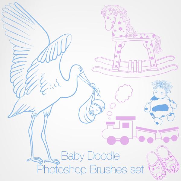 Baby Doodle Photoshop Brushes