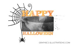 Happy Halloween Watercolor Photoshop brushes and PNG files FREE