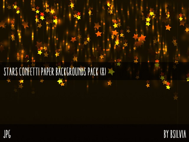 Stars Confetti Backgrounds Pack