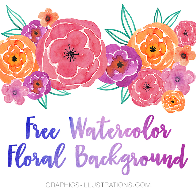 watercolor floral background graphics illustrations