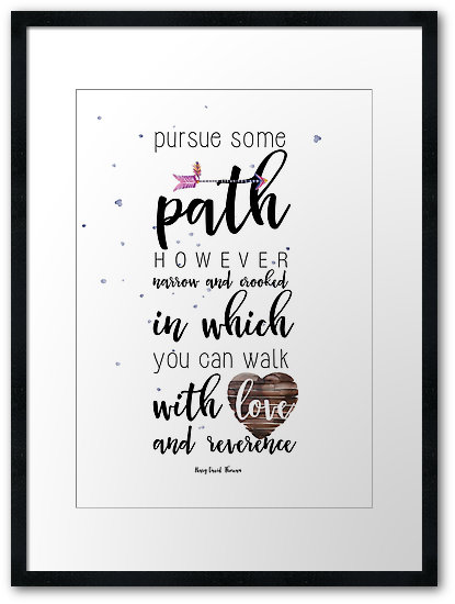 Pursue some path Framed Prints