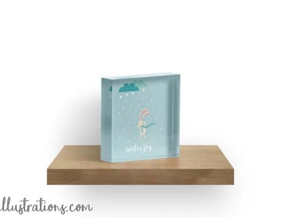 Winter Joy Acrylic Blocks