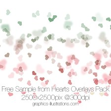 Hearts Overlays Pack – 55 PNG files