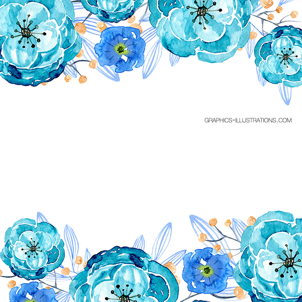 Watercolor Floral Backgrounds with Text Space, Pack 2