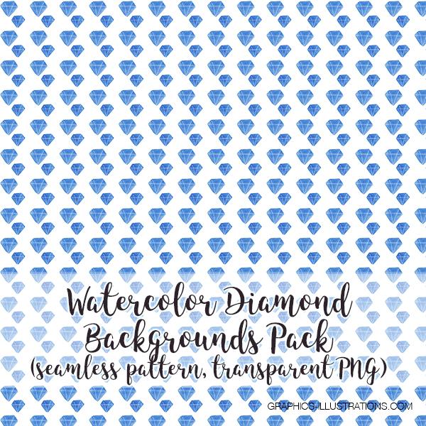 Watercolor Diamond Seamless Pattern Backgrounds