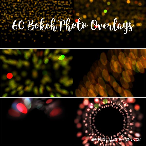 Bokeh Photo Overlays, Pack of 60