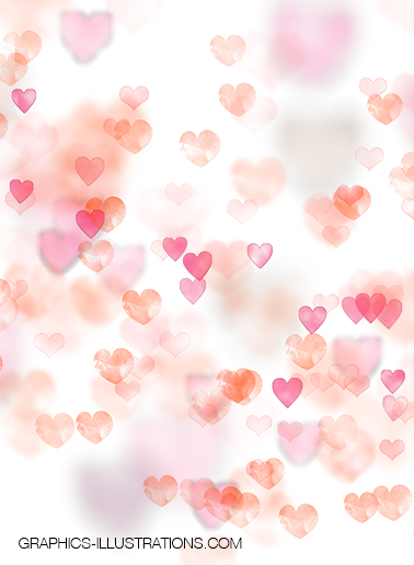 155 Bokeh Hearts Overlays