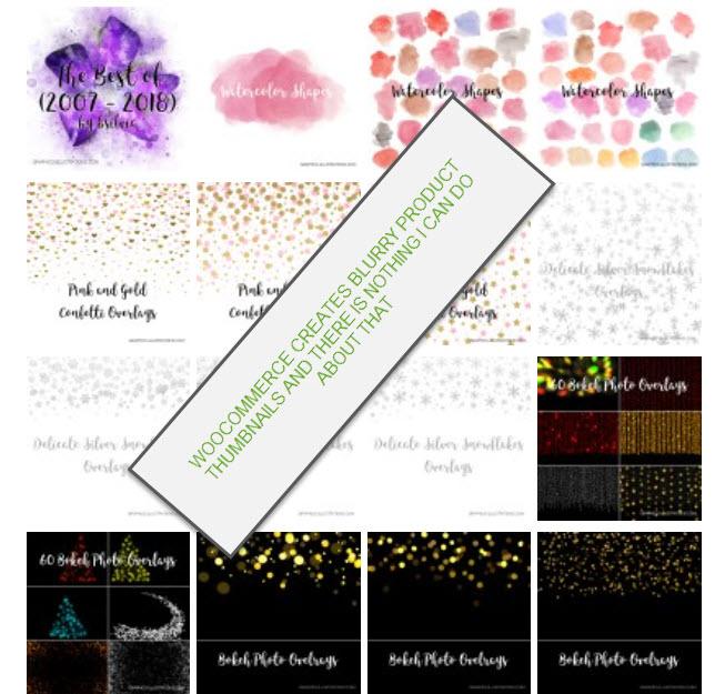 WooCommerce generates blurry product thumbnails