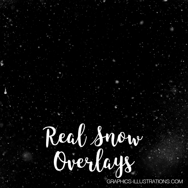 Real Snow Photo Overlays (Snowflakes), Set of 25 PNG Overlays
