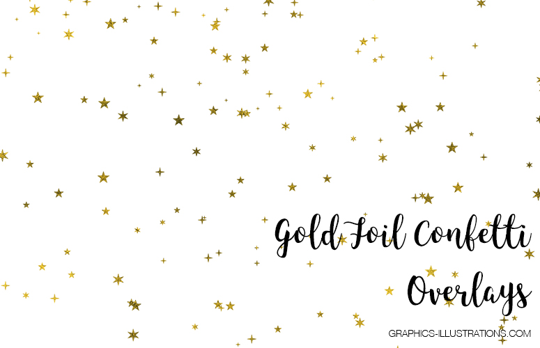 Gold Foil Confetti Overlays - Free sample