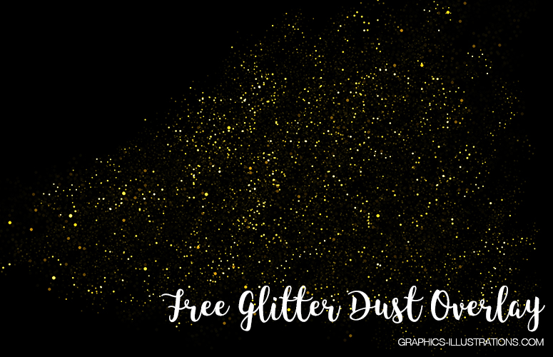 Free Download - one glitter dust overlay, 300 dpi, 5616×3744 px
