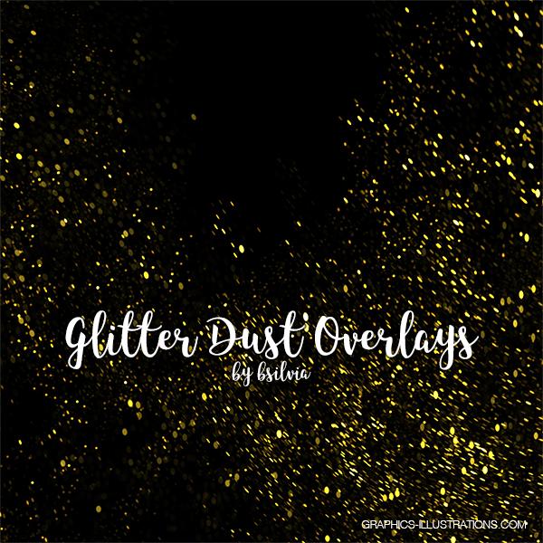 Glitter Dust Photoshop Overlays