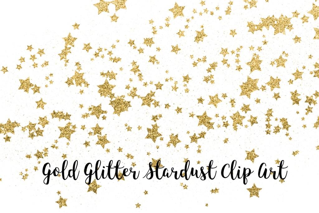 Gold Glitter Stardust Clip Art, Gold Glitter Stars Transparent PNG files, Gold Glitter Stars Overlays, Magic Dust, Night Sky
