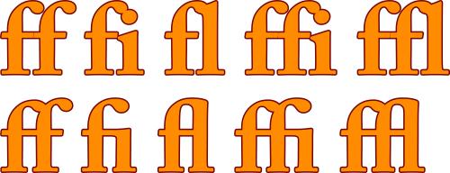 OpenType Ligatures in CorelDRAW