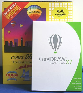 CorelDRAW 4 and X7 Boxes